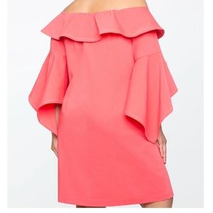 2d506f92e12 Eloquii Dresses - NWT Eloquii Off-Shoulder Coral Plus Size Dress 20
